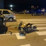 FOTO: Prometna nesreća na Križu: Sudarili se automobil i motor