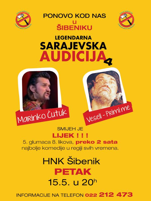 Audicija plakat Sibenik