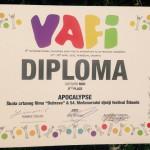Diploma varaždinskog VAFI-ja stigla u Šibenik, međunarodno priznanje radionici s 54. MDF-a