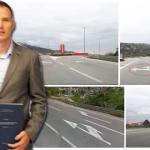 FOTO: Šibenski magistar prometa Ivan Kundid godinama ukazuje na prometne nelogičnosti u gradu