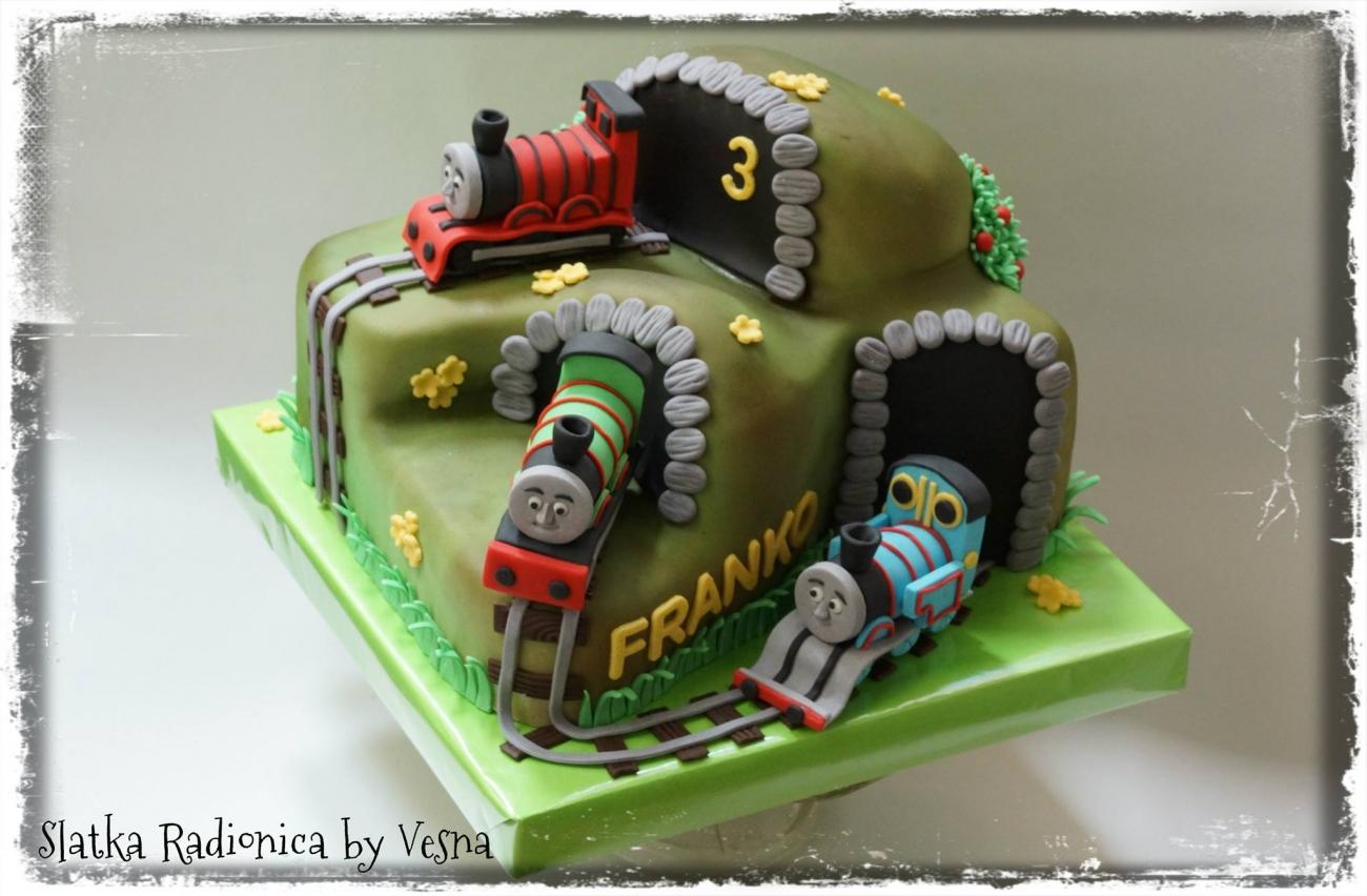 vlak torta