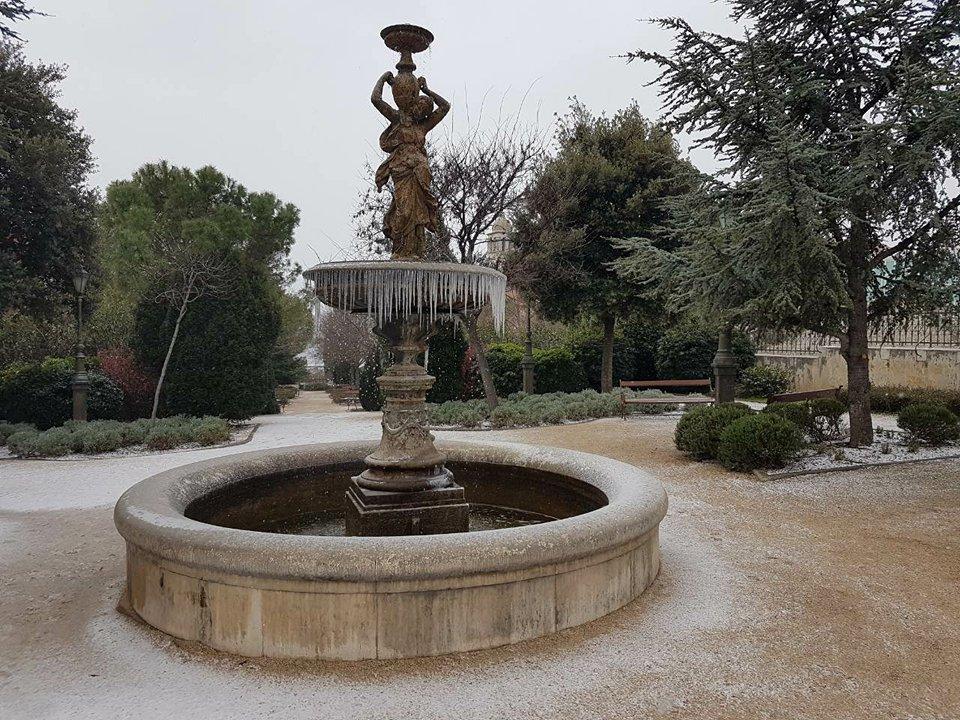 fontana led hladnoca zima