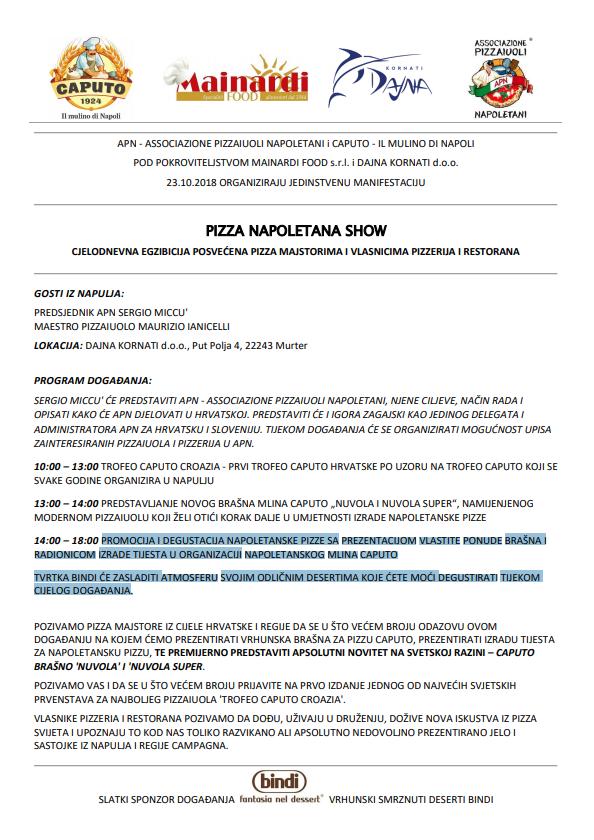 pizza napoletana show murter